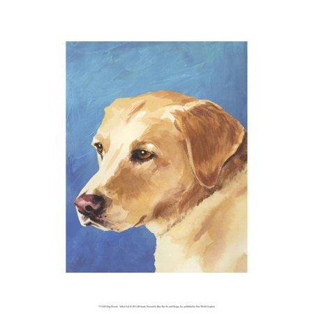 Dog Portrait, Yellow Lab Print Wall Art By Jill Sands