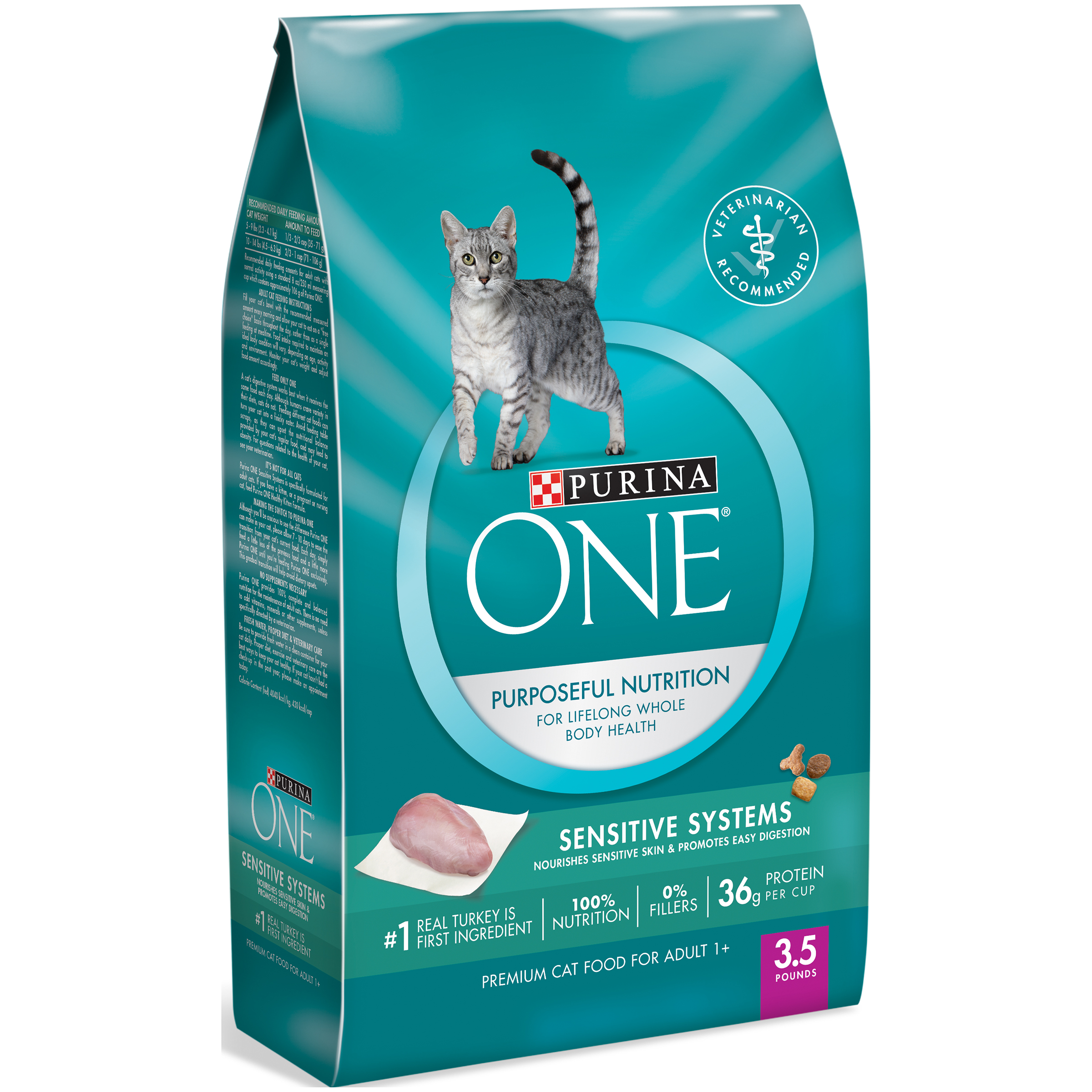 Alimento Para Gatos Purina ONE seco Premium Cat Food, sistemas sensibles, 3,5 lb bolsa + Purina One en Veo y Compro