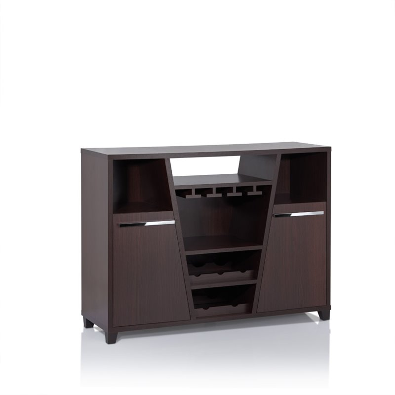 Furniture of America Luntex Wine Rack Buffet in Espresso by Furniture of America