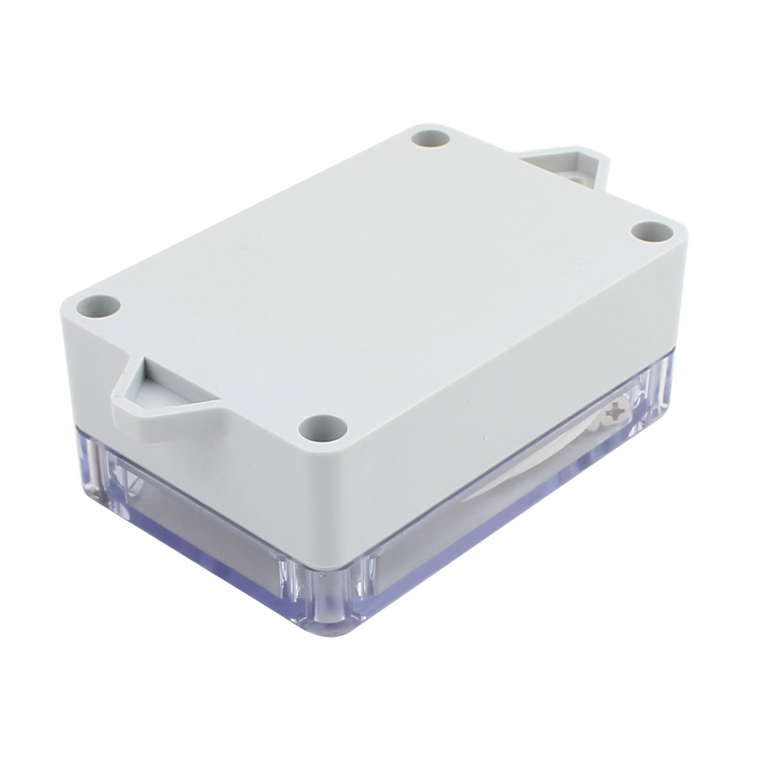 100x68x40mm Screw Mount Waterproof ABS Junction Box Enclosure w PC Clear Cover - image 1 of 3