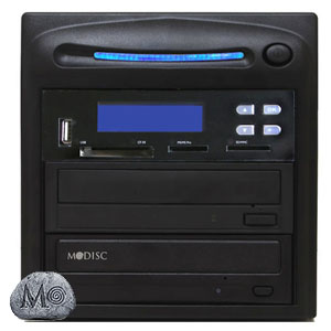 SySTOR 1:1 M-Disc Support CD DVD Duplicator + USB/SD/CF to Disc Backup Copier Tower