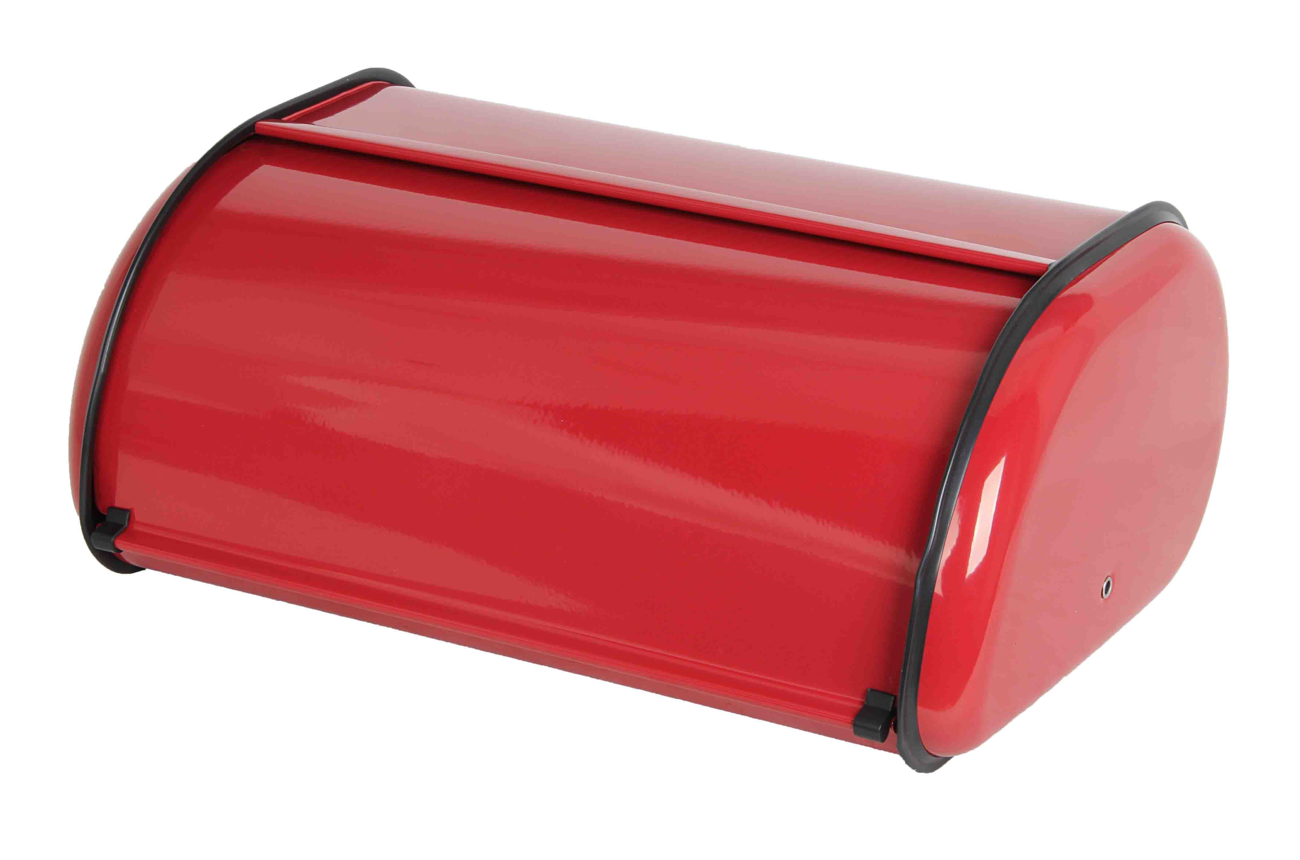 Home Basics Stainless Steel Bread Box Red