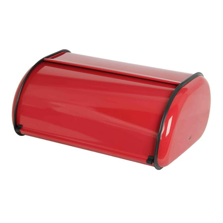 Home Basics Stainless Steel Bread Box, Red