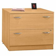 Lateral Assembled File Cabinet in Light Oak - Series C