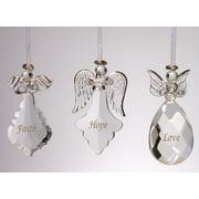 Angel Ornaments for Christmas Tree - Crystal Faith Hope Love Ornaments