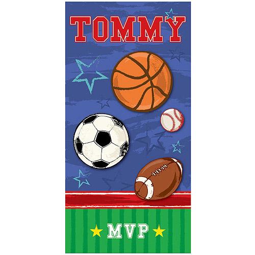 Personalized MVP Beach Towel
