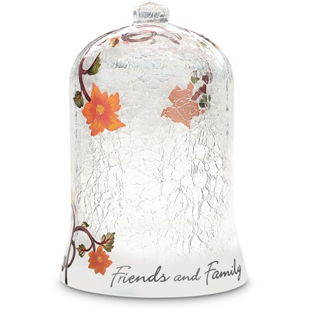 We Love Crackled Floral Hand Painted Friends and Family Glass (Hand Painted Crackle Glass)
