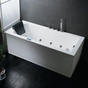 "Ariel AM154JDTSZ-70-R Platinum 70"" Whirlpool Bath Tub with Roman Tub Filler Fauc"