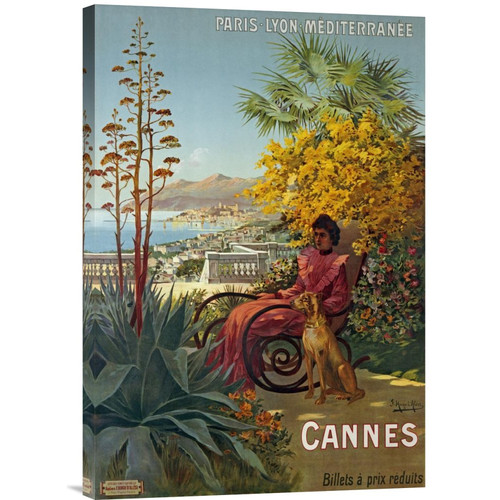 Global Gallery 'Cannes, P.L.M' by Hugo d'Alesi Vintage Advertisement on Wrapped Canvas