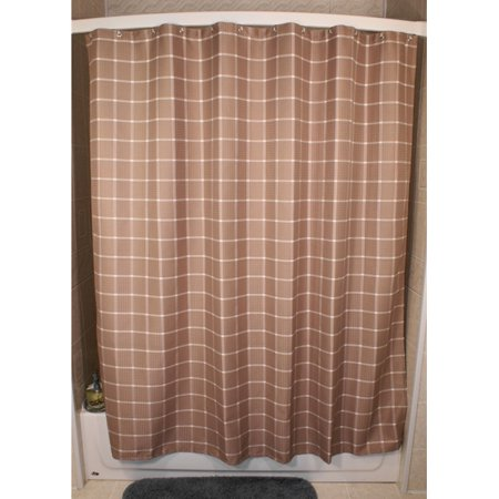 Kartri Sales Lincoln Khaki Grid Shower Curtain