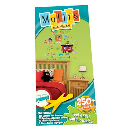 Peel and Stick Value Pack Wall Decor Appliqus Cars Trains Planes, Motifs In A Minute Peel and Stick Wall Decorations are quick and easy to put up By Motifs In A