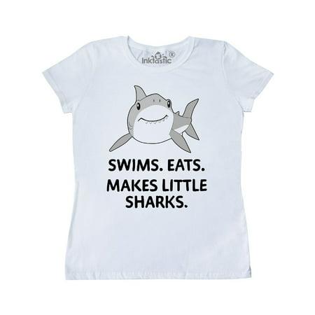 Swims. Eats. Makes Little Sharks cute shark Women