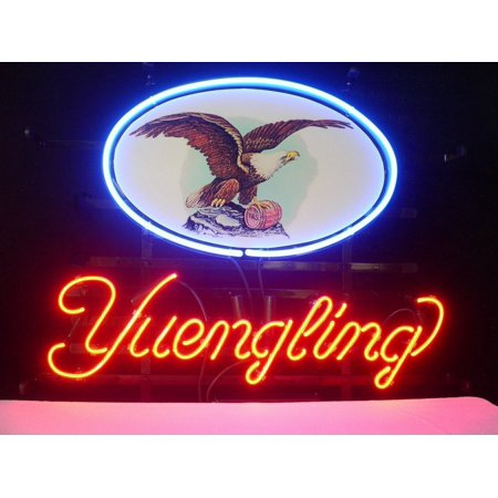 "Desung Brand New Yuengling Lager Eagle Acrylic Board Neon Sign Handcrafted Real Glass Beer Bar Pub Man Cave Sports Neon Light 17""x 14"" WM27"