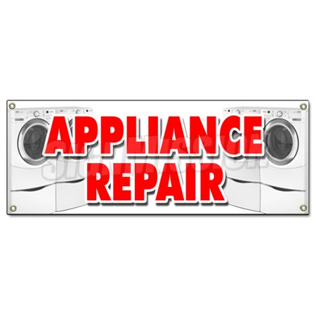 Image of APPLIANCE REPAIR BANNER SIGN refrigerator washer dryer all brands home