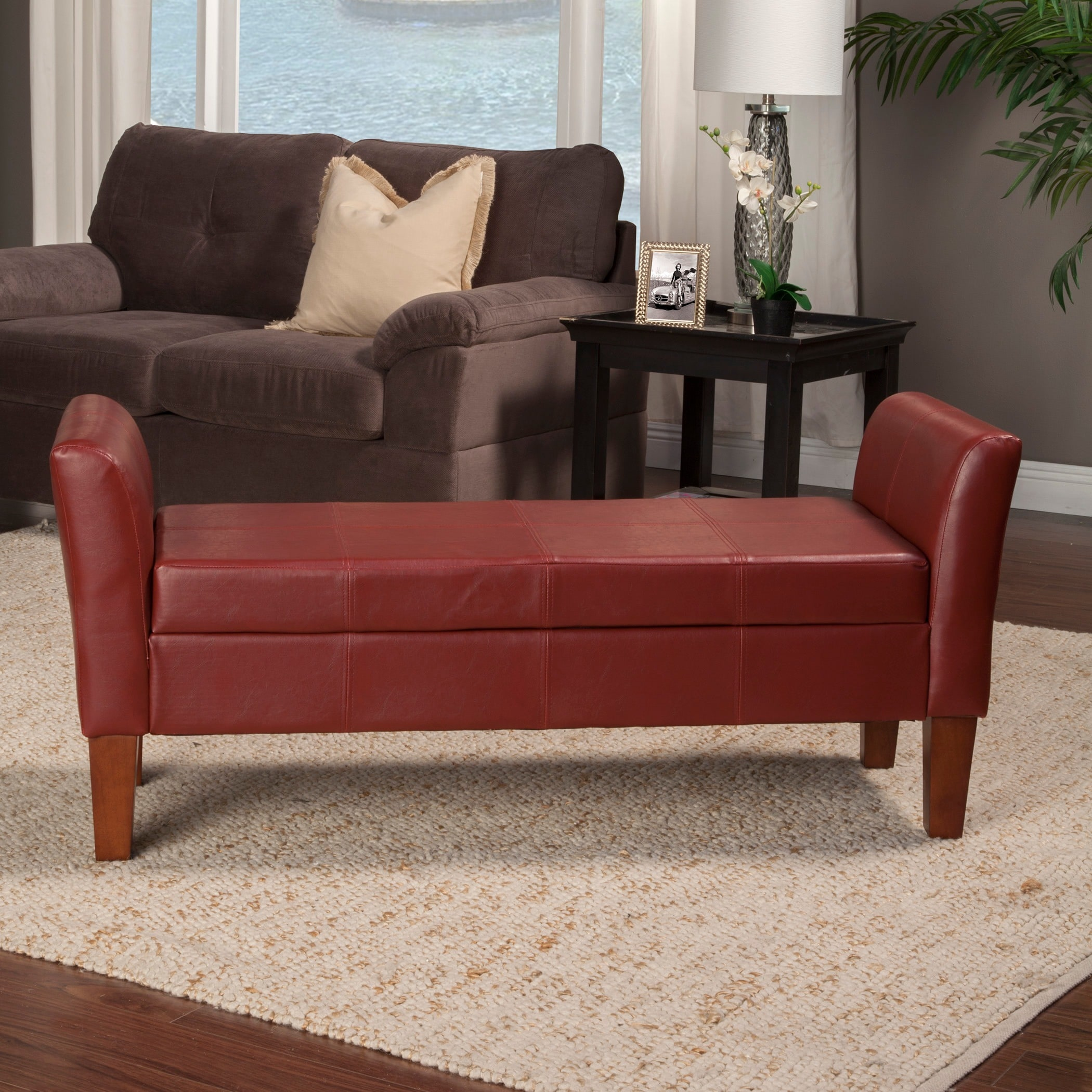 HomePop Storage Bench with Curved Arms