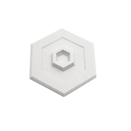 5 in., Rigid Vinyl, White, Self Adhesive Concave Wall Protector