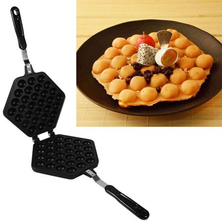 Tbest 1x Aluminum Alloy Non-stick DIY Eggettes Pan Egg Bubble Cake Baking  Mold Plate Using for Home, Egg Bubble Pan, Pans Egg Baking Mold