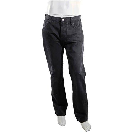 Emporio Armani Men's Black J45 Straigt Denim W, Hole, Brand Size 36 Armani Five Pocket Jeans