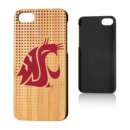WSU Washington State Cougars Dots Bamboo Case for iPhone 8 / (Washington State Cell Phone)