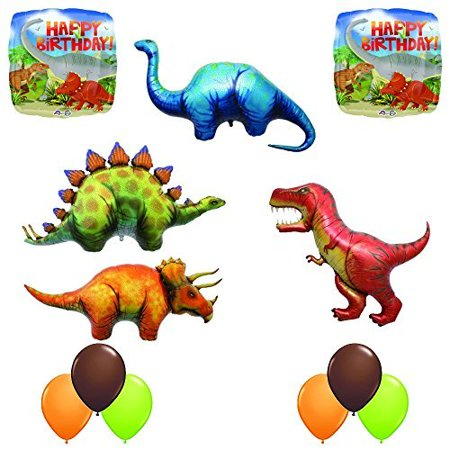The Ultimate Prehistoric 12 pc Giant Dinosaur Birthday Balloon Decoration Kit](Birthday Decoration Stores)
