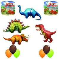 The Ultimate Prehistoric 12 pc Giant Dinosaur Birthday Balloon Decoration Kit