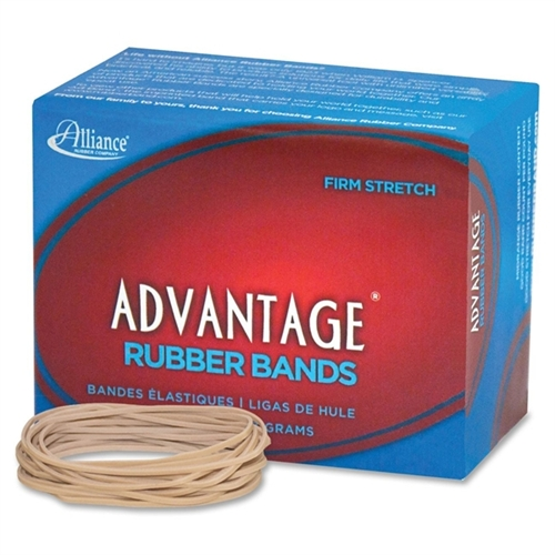 "Alliance Rubber Advantage Rubber Bands Size 19 1/4LB. 3-1/2""X1/16"" Natural 26199"
