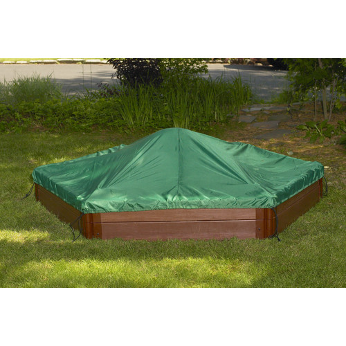Frame It All Two High 7' Hexagon Sandbox with Cover by Frame It All