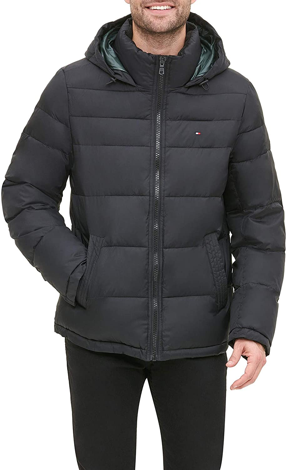 Tommy Hilfiger men/'s Classic Hooded Puffer Jacket