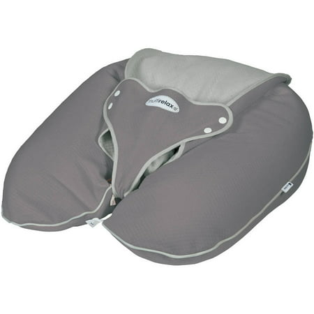 CANDIDE Multirelax+ 3-in-1 Maternity Pillow and Infant Seat- Jersey Cotton- Grey/Light Grey