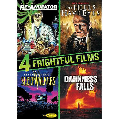 4 Frightful Films: Re-Animator / The Hills Have Eyes / Sleepwalkers / Darkness Falls (Widescreen)