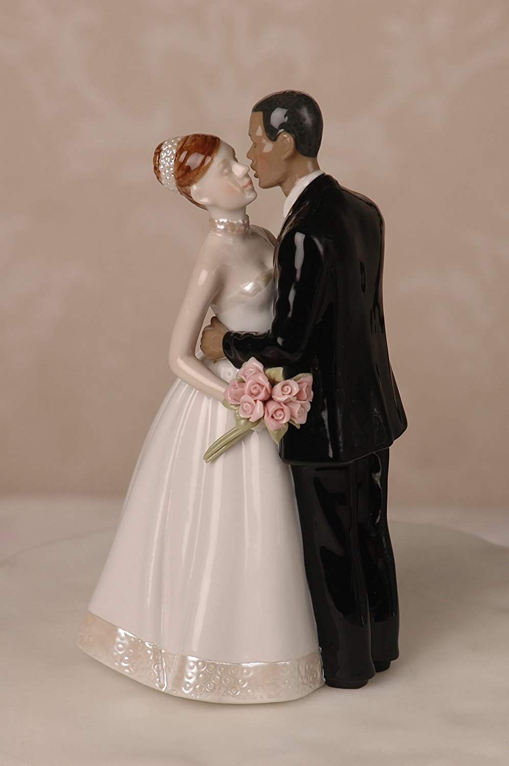 Interracial cake topper biracial wedding topper custom