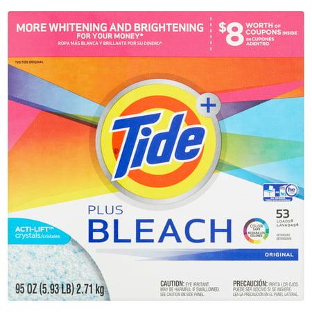 Ultra Tide Plus Bleach Original He Powder Laundry Detergent  95 Oz