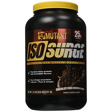 Mutant Iso montée subite isolat de protéines en poudre, chocolat Fudge Brownie, 1.6 Pound