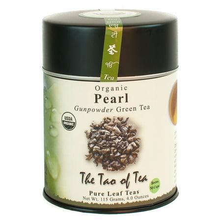 The Tao of Tea, Organic Pearl (Gunpowder) Tea, Loose Leaf Tea, 4 Oz Tin