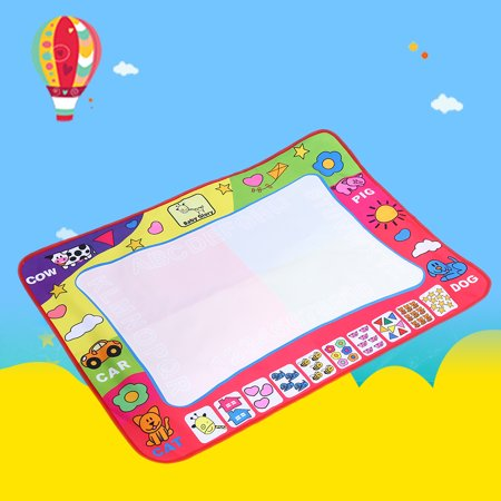 Aquadoodle Mat - EECOO 4 Color Water Painting Draw Writing Mat Kid Aquadoodle Developmental Doodle Board Toy With Magic Pen(31.5 X 23.6inch)
