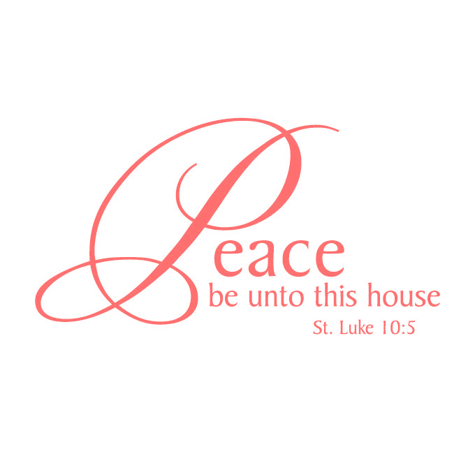 Peace Be Unto This House Vinyl Quote - Large
