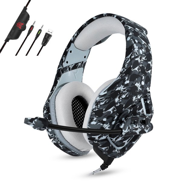 Gaming Headset For Ps4 Xbox One Nintendo 3ds Psp Eeekit 3 5mm Over Ear Noise Cancelling Stereo Surround Headphones With Mic Soft Memory Earmuffs For Laptop Pc Mobile Phone Walmart Com Walmart Com