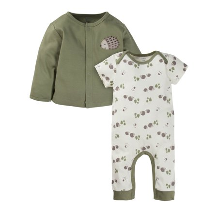 Baby Boys Long Sleeved Cardigan (Gerber Coverall and Cardigan Set, 2pc (Baby Boys))