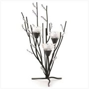 SWM 12055 Crystal Tree Tealight Holder