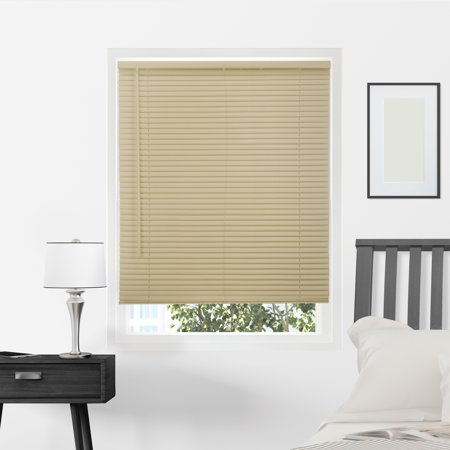 Chicology Cordless 1-Inch Mini Blinds, Smooth, Gloss Cappuccino (Commercial Grade) - 23
