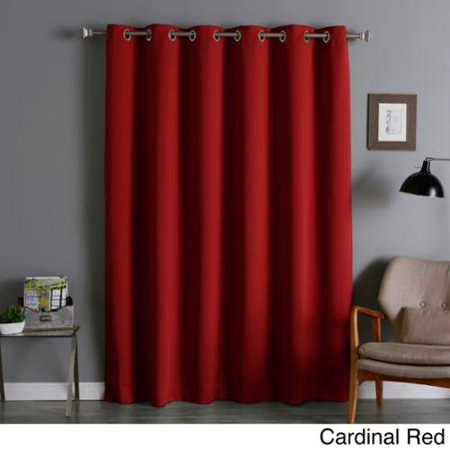 extra wide thermal insulated 84 inch blackout curtain panel cardinal red. Black Bedroom Furniture Sets. Home Design Ideas