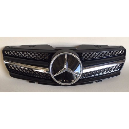 Mercedes Sl500 Convertible - MERCEDES BENZ SL R230 08-SL LOOK GRILL BLACK SL500 SL550 SL55 AMG NEW 2003-2006