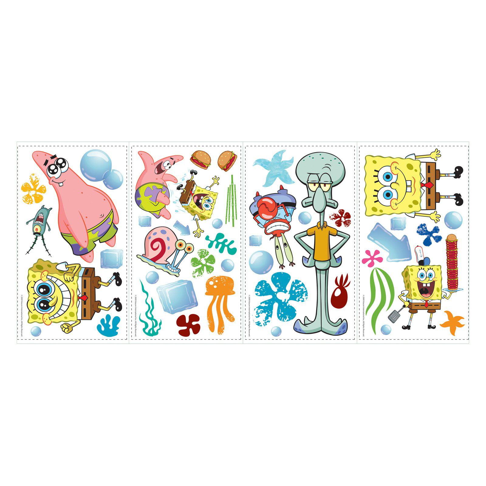 RoomMates SpongeBob SquarePants Peel and Stick Wall Decals - Walmart.com