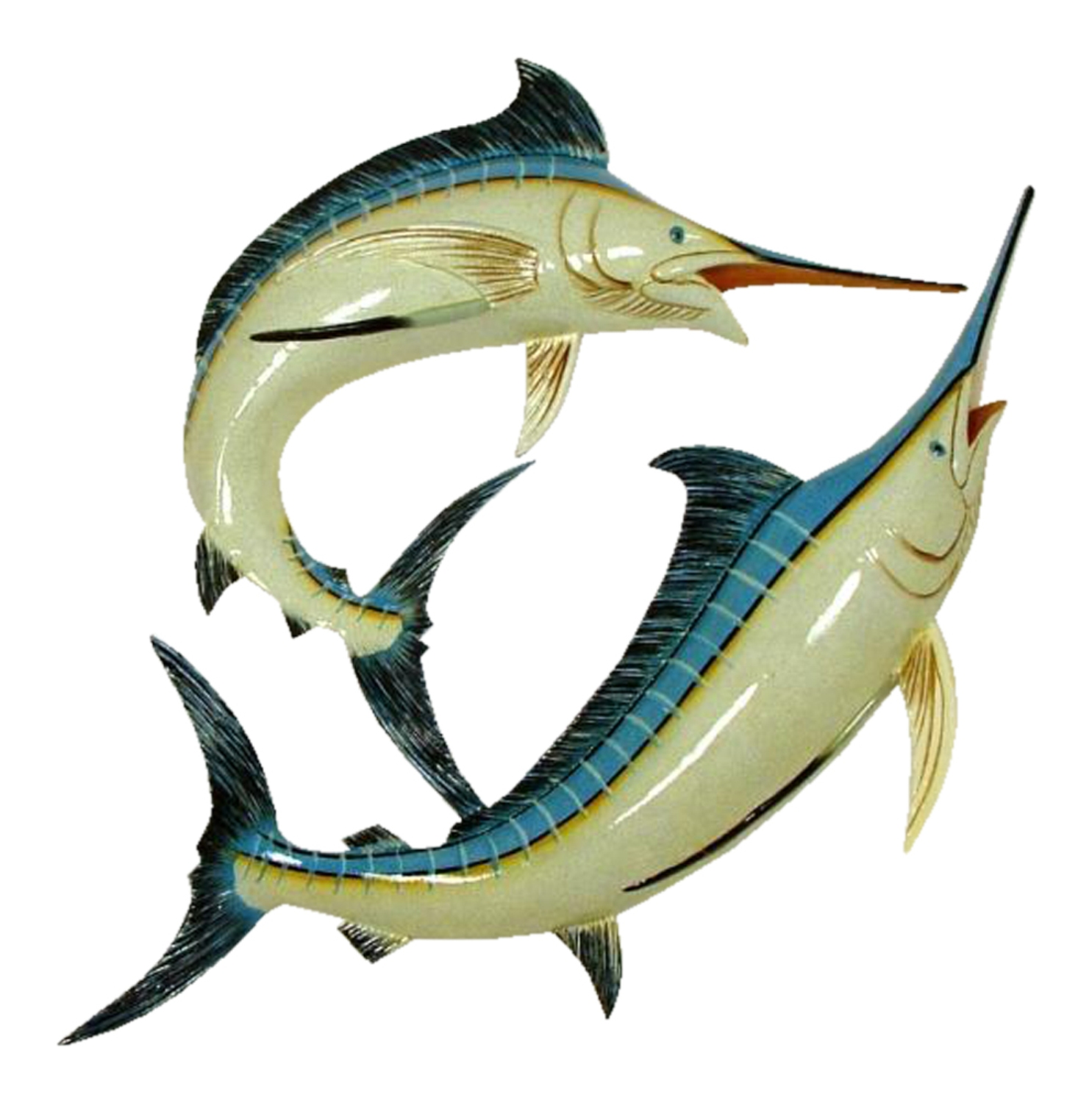Double Marlin Replica Nautical Sea Fishing Wall Decor