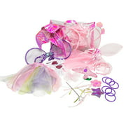 Girls Dress up trunk: 2 Fairy, mermaid, princess costume set with carry and storage bag