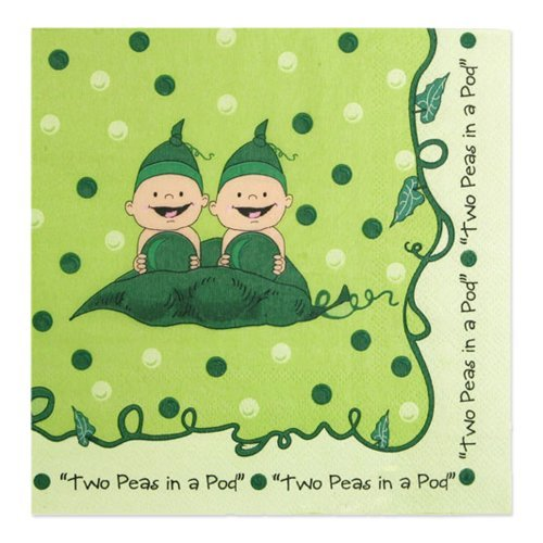 Twins Two Peas in a Pod - Luncheon Napkins (16 count)
