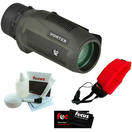 Vortex Optics S136 Solo 10x36 Monocular + Micro Fiber Cleaning Cloth + Cleaning and Care Kit + Floating Foam Strap - Vortex Body Kit