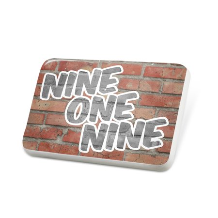 Porcelein Pin 919 Raleigh, NC brick Lapel Badge – NEONBLOND (Halloween Store Raleigh Nc)