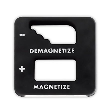 Black Precision Demagnetizer/ Magnetizer - For Screwdrivers, Small Tools, Small and Big Screws, Drills, Drill Bits, Sockets, Nuts, Bolts, Nails And Construction Tools -