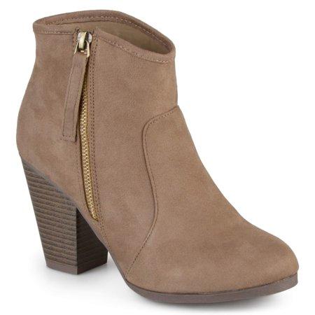 Brinley Co. Women s Wide Width Faux Suede High Heel Ankle Boots -  Walmart.com 6aac16f1809